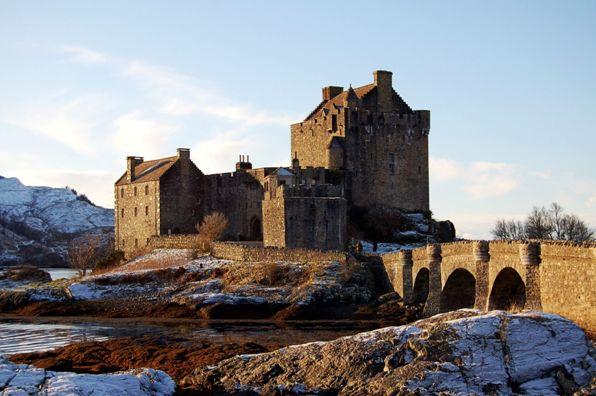 достопримечательности великобритании шотландия замок эйлен донан