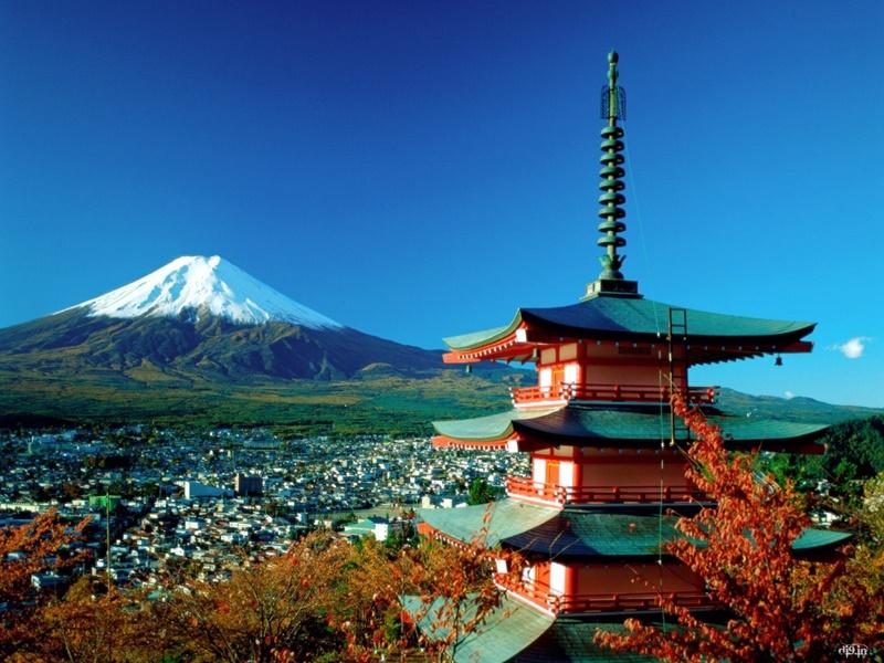 Достопримечательности Японии - гора Фудзи