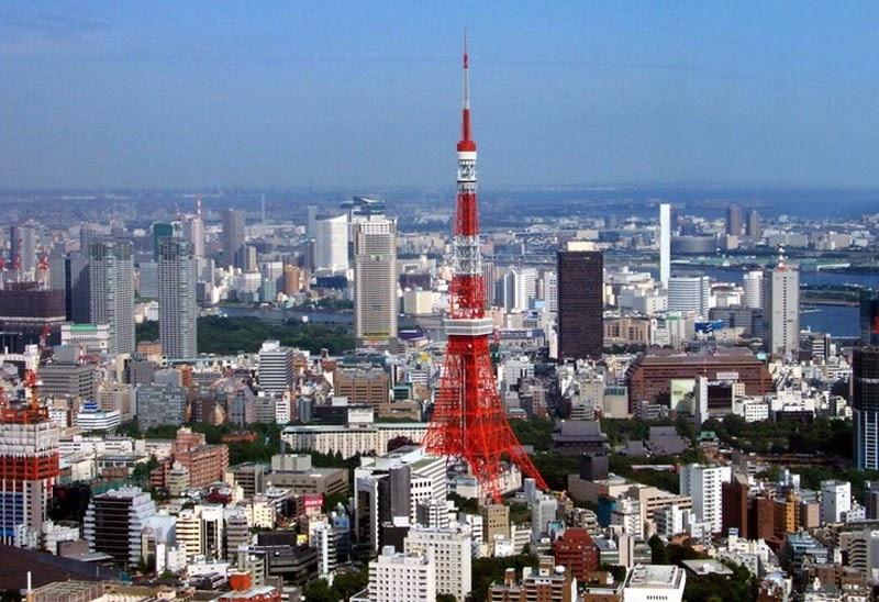 Достопримечательности Японии - телевизионная башня Токио