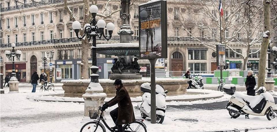 Париж зимой: фото заснеженной французской столицы