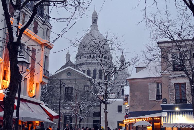 Монмартр зимой