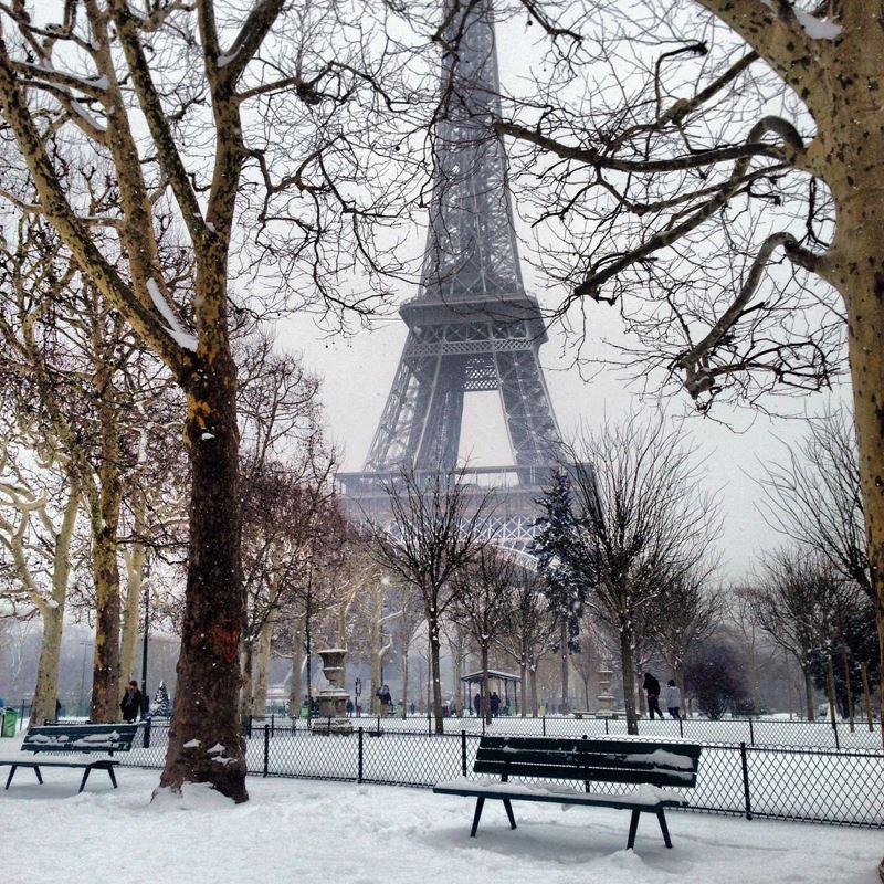 Париж зимой - Эйфелева башня