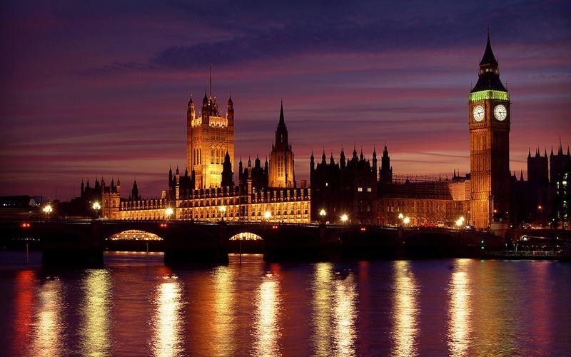 Фото ночного Лондона  (1)