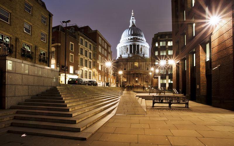 Фото ночного Лондона  (10)