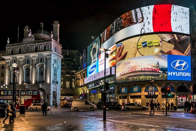 Фото ночного Лондона  (11)