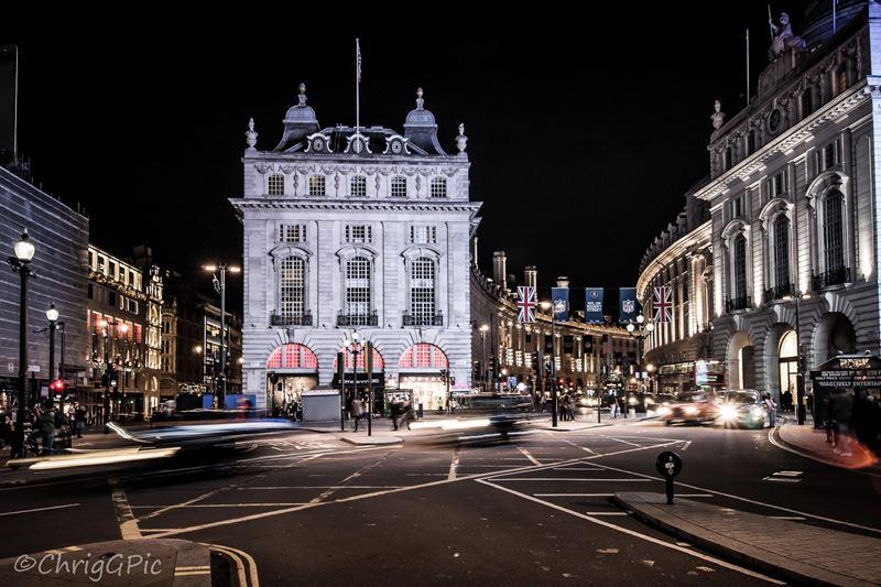 Фото ночного Лондона  (12)