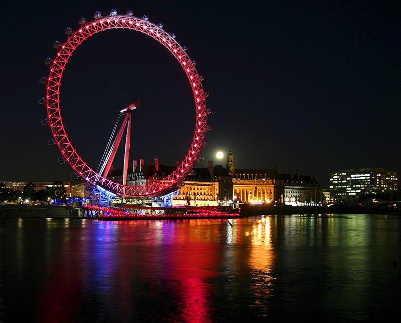 Фото ночного Лондона  (14)