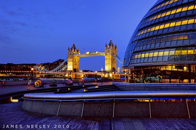 Фото ночного Лондона  (17)