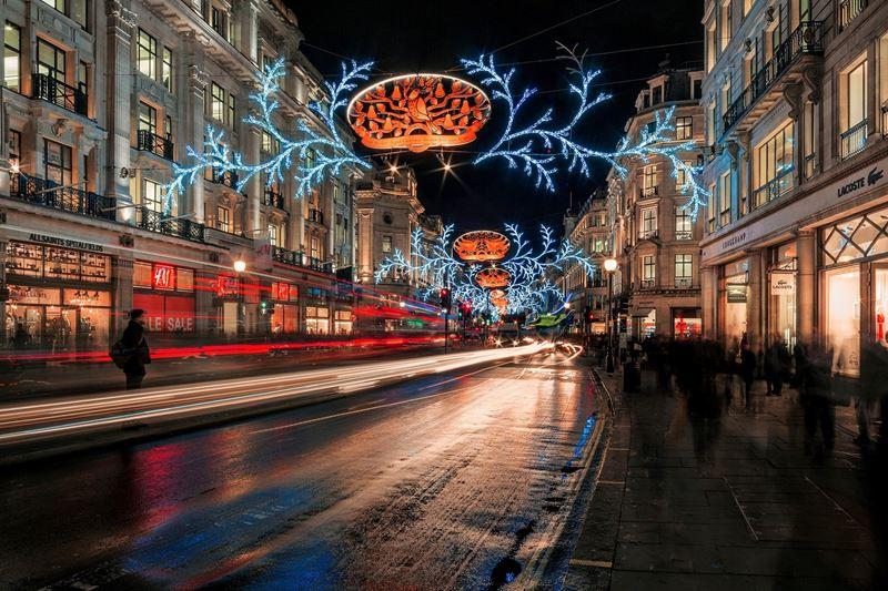 Фото ночного Лондона  (20)
