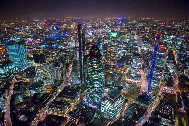 Фото ночного Лондона  (3)