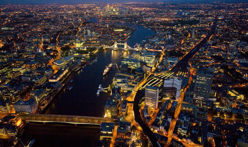 Фото ночного Лондона  (4)