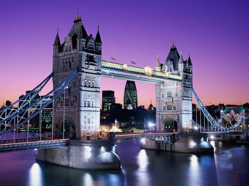 Фото ночного Лондона  (5)