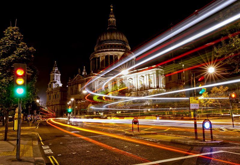 Фото ночного Лондона  (6)