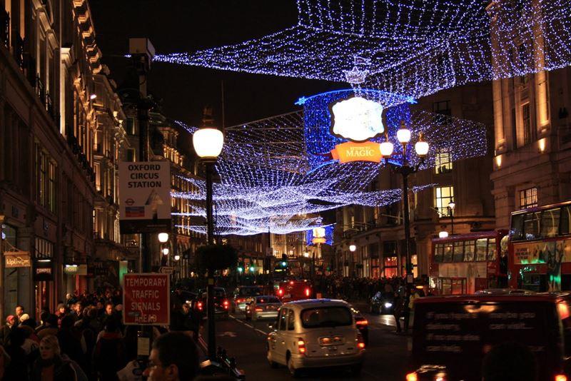 Фото ночного Лондона  (8)