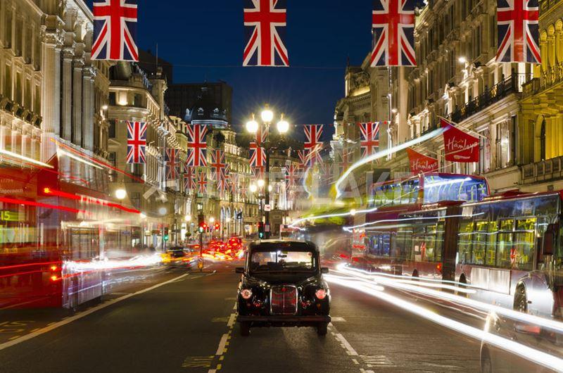 Фото ночного Лондона  (9)