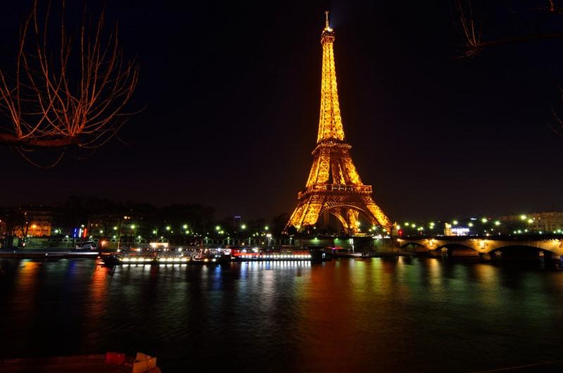 Ночной Париж фото (1)