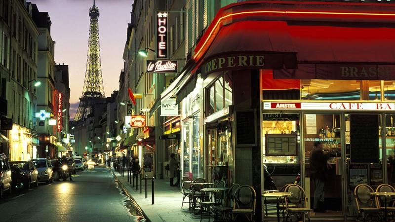 Ночной Париж фото (14)