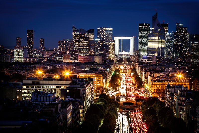Ночной Париж фото (18)