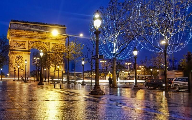 Ночной Париж фото (21)