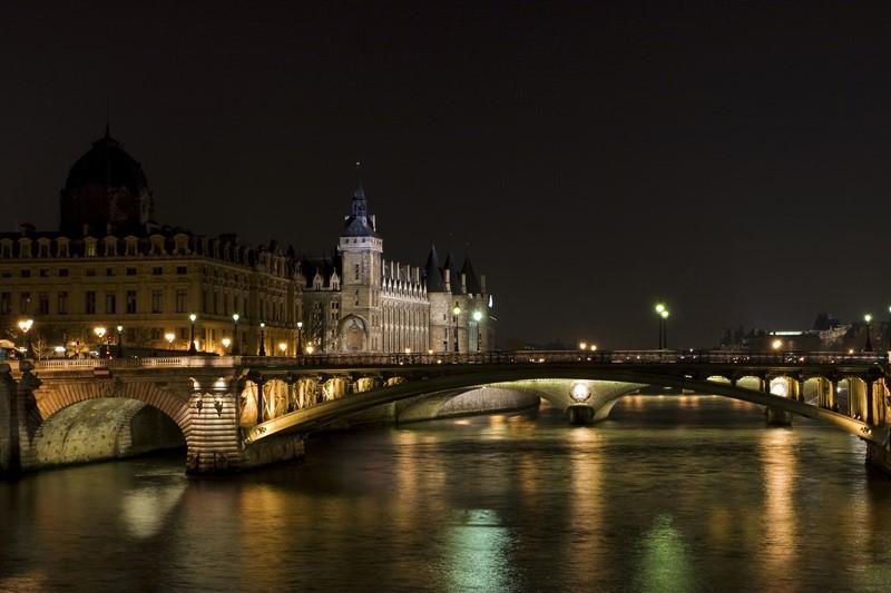 Ночной Париж фото (3)