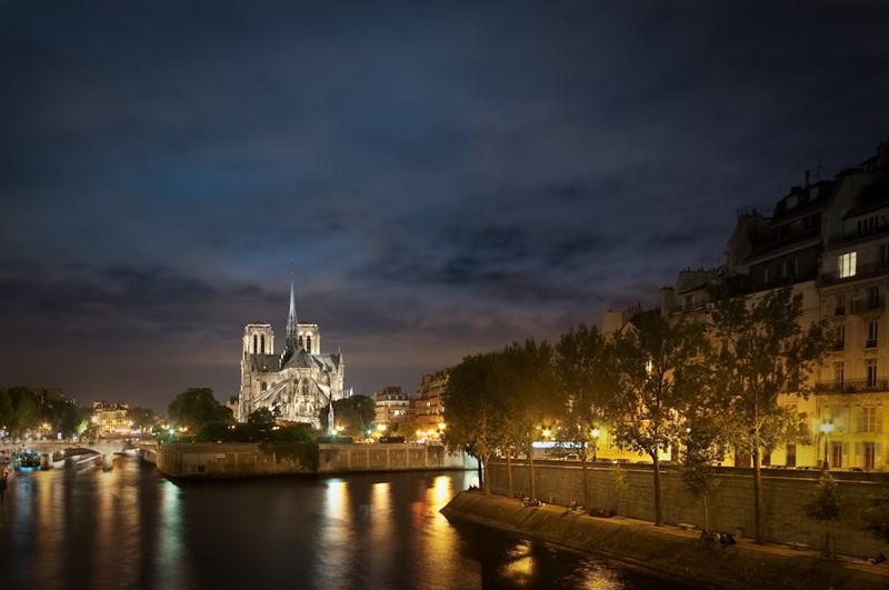 Ночной Париж фото (4)