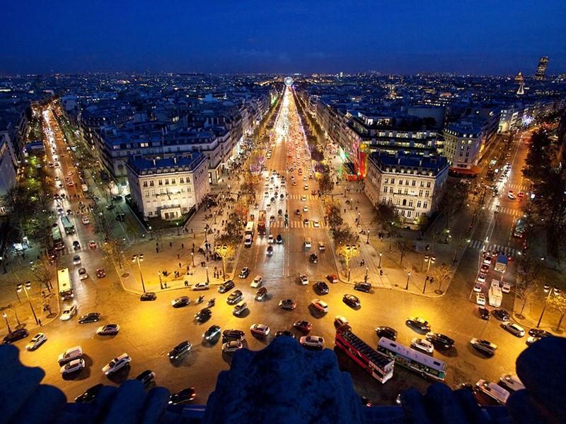 Ночной Париж фото (6)