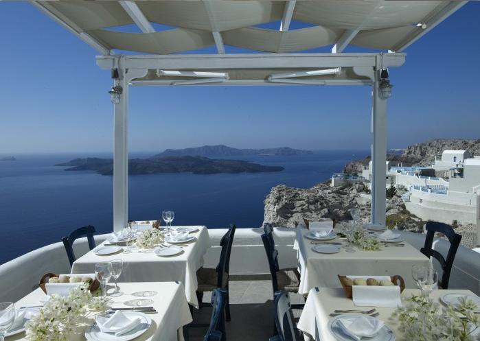Рестораны с панорамным видом: Caldero (Санторини, Греция)