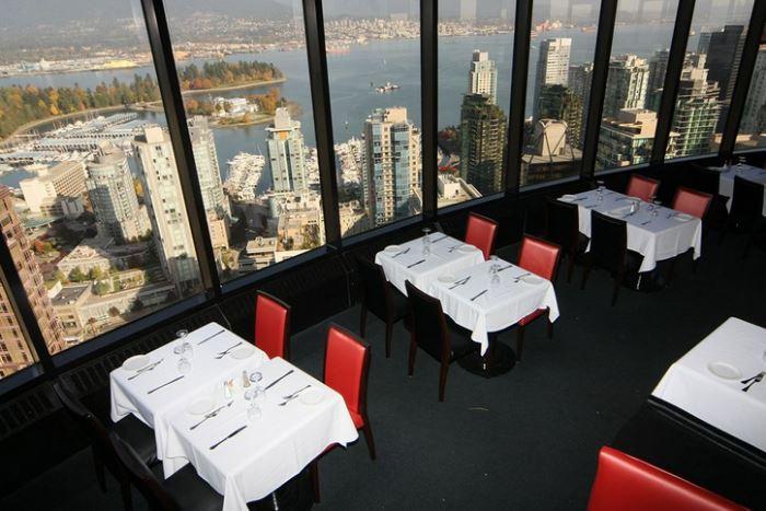 Рестораны с панорамным видом: Cloud 9 (Ванкувер, Канада)