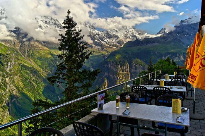 Рестораны с панорамным видом: Edelweiss (Мюррен, Швейцария)