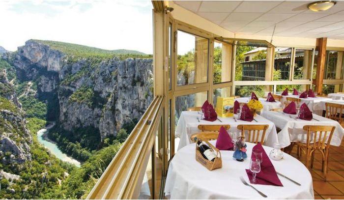 Рестораны с панорамным видом: Grand Canyon du Verdon (Горж дю Вердон, Франция)