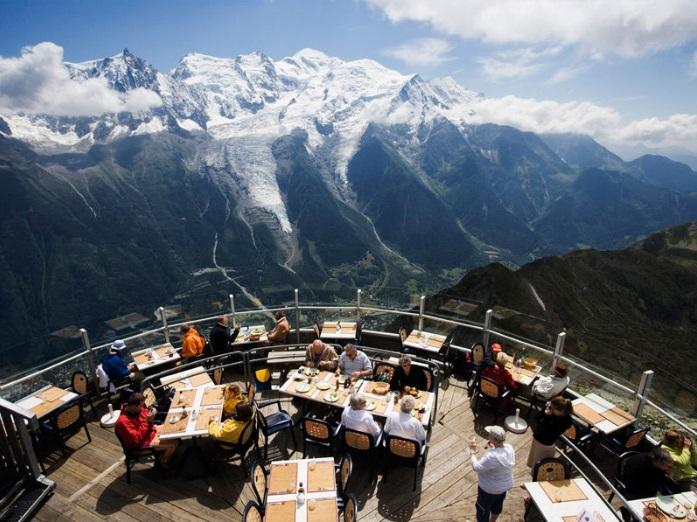 Рестораны с панорамным видом: Le Panoramic (Шамони, Франция)