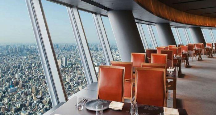 Рестораны с панорамным видом: Sky Restaurant 634 (Токио, Япония)