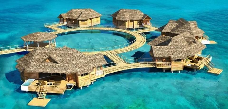 The Sandal Royals представляет первые водные виллы-suite на Карибах