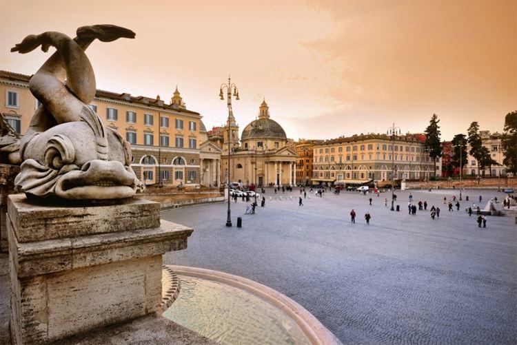 Главные красивые площади Рима: Площадь Пополо