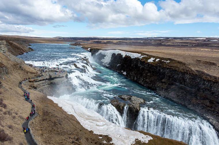 Самые красивые водопады мира: Гюдльфосс (Исландия)