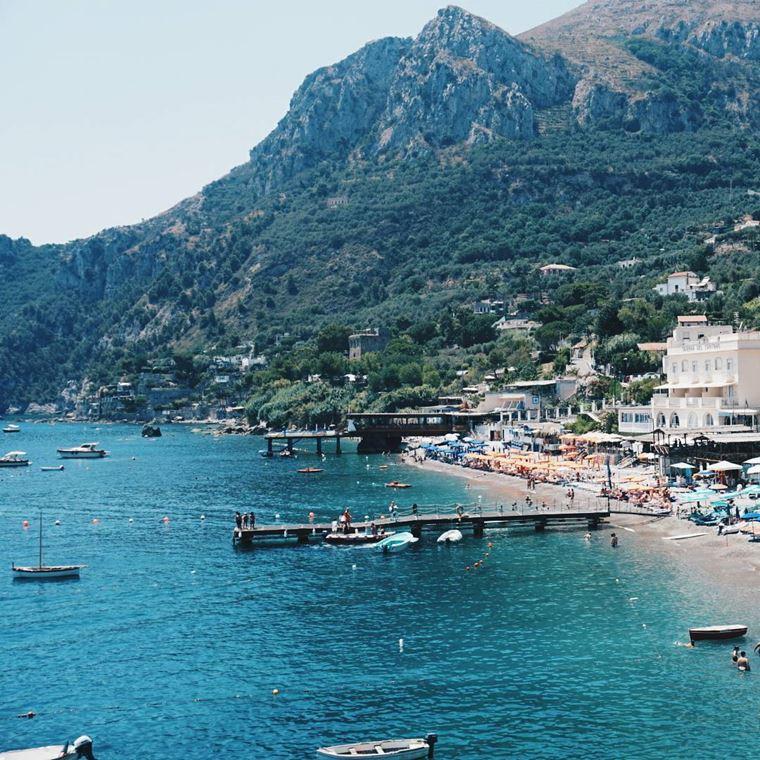 Лучшие пляжи Амальфитанского побережья Италии - Марина-дель-Кантоне