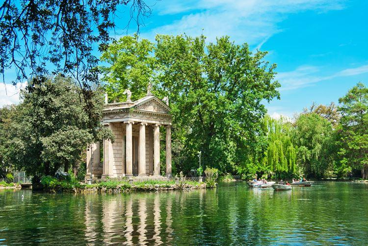 Самые красивые сады и парки: сады виллы Боргезе в Италии