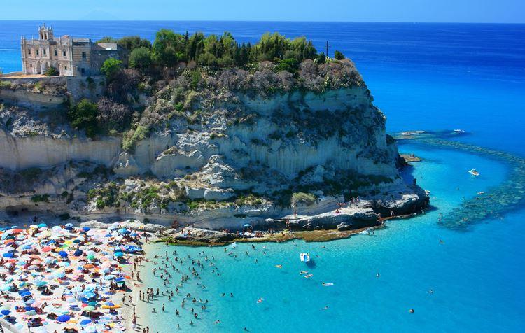 Лучшие пляжи Калабрии, Италия - Тропеа