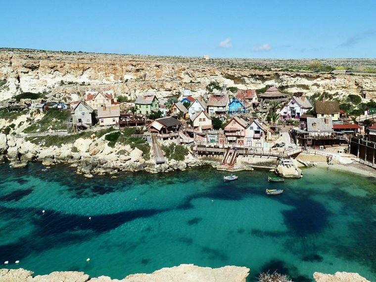 Лучшие пляжи Мальты: Анкор Бэй - пляж Попая