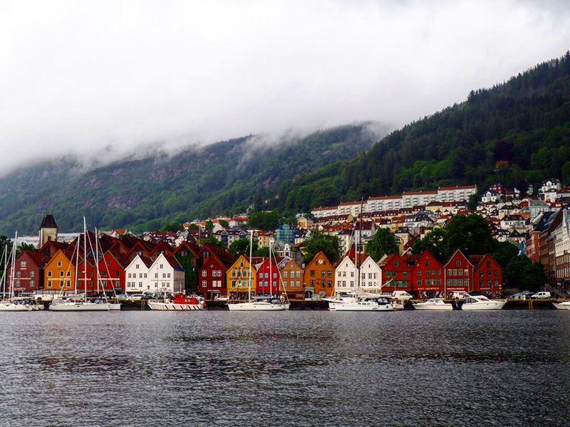 Красивые города Норвегии: Берген