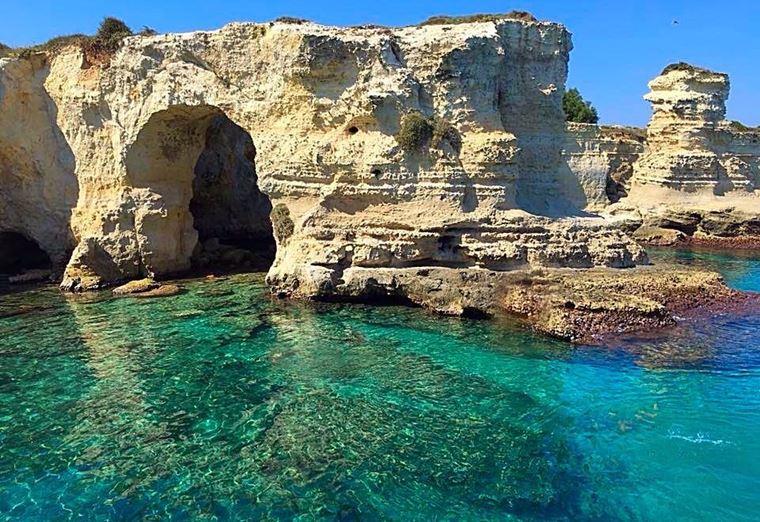 Лучшие пляжи Апулии: Торре-Сант-Андреа