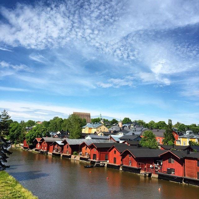 Красивые города Финляндии: Порвоо
