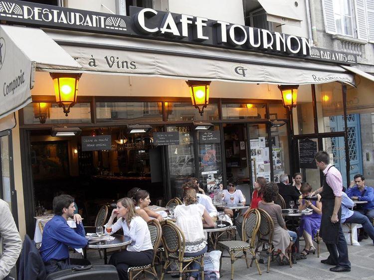 Знаменитые исторические кафе Парижа: «Кафе Турнон»
