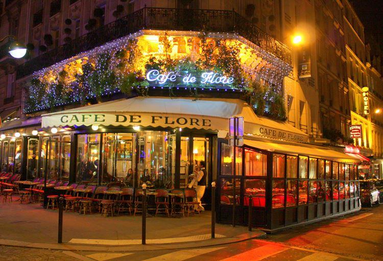 Знаменитые исторические кафе Парижа: «Кафе де Флор»
