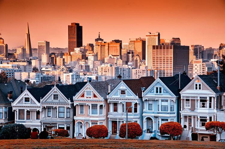 Самые известные и красивые улицы мира - Штайнер стрит в Сан-Франциско (США)