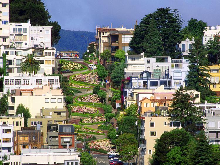 Самые известные и красивые улицы мира - Ломбард стрит в Сан-Франциско (США)