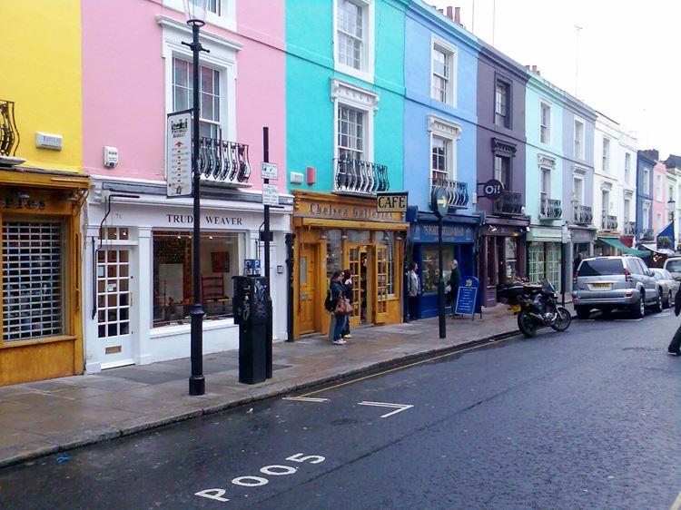 Самые известные и красивые улицы мира - Портобелло Роуд в Лондоне (Великобритания)