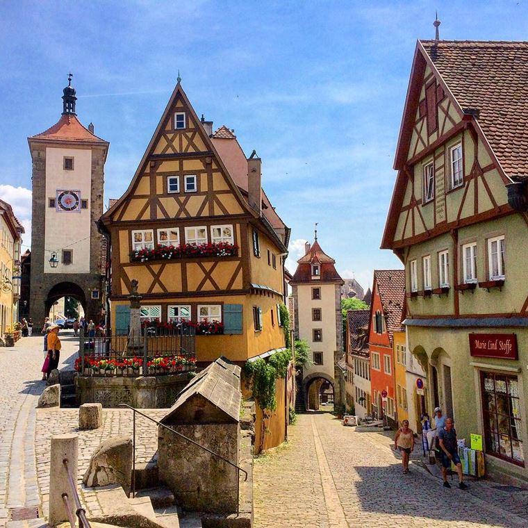 Красивые старинные города Германии: Ротенбург-на-Таубере
