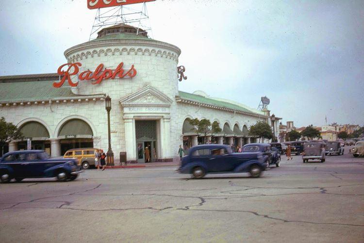 Цветные фото старого Лос-Анджелеса 40-70-х годов - ретро-фото 1