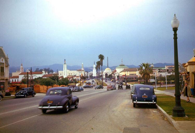 Цветные фото старого Лос-Анджелеса 40-70-х годов - ретро-фото 2